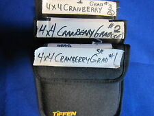 TIFFEN 4x4 FILTER  CRANBERRY GRAD SE    1, 2, 3,   (USED)  (LOT OF 3)
