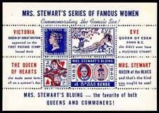USA Poster Stamp - Advertising Mrs. Stewart's Bluing - Souv. Sheet - #2