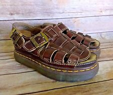 Doc Martens Brown Leather Fisherman Sandals Size Womens 7 UK 5 38 8092 VTG 90's