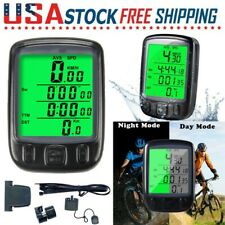LCD Digital Wireless Cycle Computer Bicycle Bike Backlight Speedometer Odometer