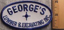 GEORGE'S LUMBER & EXCAVATING COMPANY PATCH (LUMBER, HARDWARE, UNIFORM)