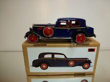 TIN TOY PAYA REPLICA VINTAGE CLASSIC CAR - BLUE + BLACK L20.0cm - GOOD IN BOX
