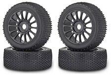 Carson Jeu de roues noir Buggy 1:8 Rayons Jantes avec Mature Pin 4 Pièces Neuf