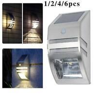 Solar Power Motion Sensor Wall  Garden Security Bright Light Outdoor Lamp