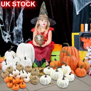 22/7PCS Set Large Mini Artificial Foam Pumpkin Props Halloween Decorations Decor