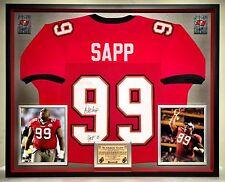 Premium Framed Warren Sapp Autographed Tampa Bay Buccaneers Jersey --- JSA COA