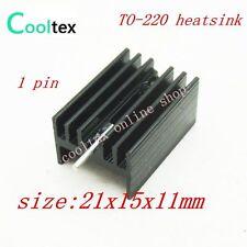 100 un./lot 21x15x11mm TO-220 TO220 IC disipador de calor para circuito integrado, triodo