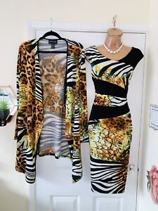FRANK LYMAN Two Piece Outfit Uk Size 14/ Dress & Jacket