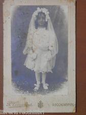 Vecchia foto su cartoncino 900 fotografia antica Pasquale CIMMINO ROCCADASPIDE