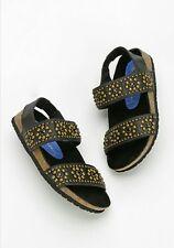 Jeffrey Campbell Cordoba Slingback Sandal Stud Leather Size 6 Black $130