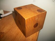 "HANDMADE WOODEN DICE - LARGE! BIG! JUMBO! 2-9/16"" NATURAL WOOD signed"