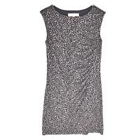 Ann Taylor Loft Dress Size Petite Small NEW Animal Print Gray Black Sleeveless