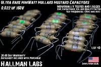NOS Philips/Mullard MiniWatt Mustard Capacitor 0.022uF 160V | Tested w/ Warranty
