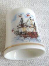 Fingerhut- maritim- Schiff- Kogge Motiv 3- Porzellan- deutsches Produktdesign
