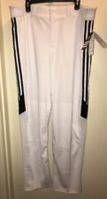 ADIDAS Men's Baseball/Sports Climalite Pants in WHITE/BLACK Size 2XL NEW Tags