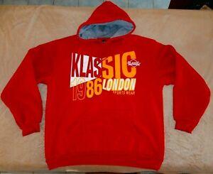 KLASSIC 1986 XXL LONDON SPORTS WEAR Trademark Hooded Sweat HOODY NEW WISH TOWN