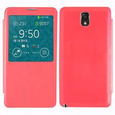 Housse Etui Coque View Case ROUGE Samsung Galaxy Note 3 N9000 N9002 N9005 N9006