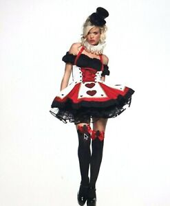 Sexy Pretty Playing Card Costume Halloween S M Leg Avenue Adult Cosplay Hearts
