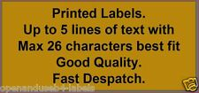 1,000 GOLD Personalised printed sticky- self adhesive labels - you choose text