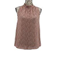 Ann Taylor Loft Sleeveless Blouse NWT Women's Pink Floral Top Size XXS