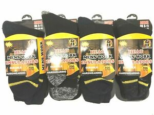 MENS HEAT INSULATORS SOCKS HEAVY DUTY OUTDOOR WORK DURABLE 2.3 TOG WARM SOCKS