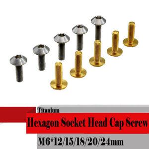 5pcs Titanium M6 *12/20mm M8 *25 Disc Fixed Hexagon Socket Head Cap Screw Bolts