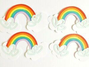 Rainbow Clouds Papercraft Embellishments Scrapbooking Card Making Craft Supplies