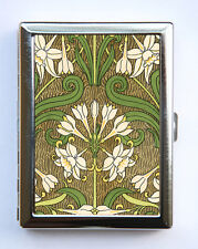 Art Nouveau Floral Cigarette Case id case Wallet Business Card Holder flowers