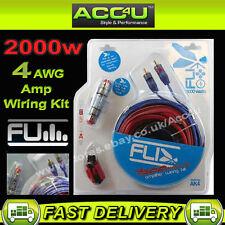 Fli AK4 12 V 4 Awg Jauge 2000 W 2000 W Voiture AMP Amplificateur Système DEL Wiring Kit