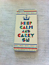 Multi-coloured KEEP CALM AND CARRY ON Art Printed  iPhone 5 5s Case for Apple
