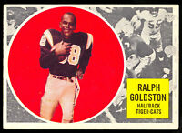 1960 TOPPS CFL FOOTBALL #35 RALPH GOLDSTON EX+ HAMILTON TIGER CATS YOUNGSTOWN