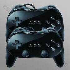2 Classic Controller Pro for Nintendo Wii Remote BLACK