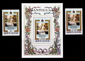BARBUDA - Scott 461-463 - 1980 Queen Elizabeth The Queen Mother 80th Birthday