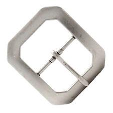 "Clipped Corner Belt Buckle Antique Nickel 1-1/2"" 1587-21"