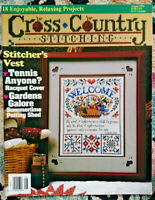 Cross Country Stitching Magazine August 1994 Gardens Isaiah 32:17 Bible Stories