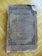 1847 livre la terre-sainte et les lieux Terre Sainte 48 x Acier Gravures Engravings