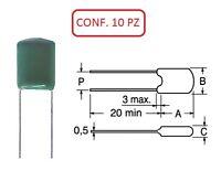 COPM 270K CONDENSATORE IN POLIESTERE MYLAR 100V 270nF (+S5) CONF. 10 PZ