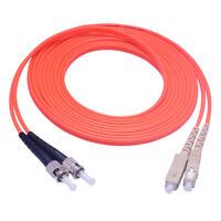 3M SC UPC to ST UPC MM Multi-mode Duplex Fiber Patch Cord Optical Cable Jumper