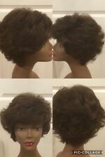 Cute Synthetic Wig Wig Brown With Highlights Size Average CLEAN/Cond (H-CSW)