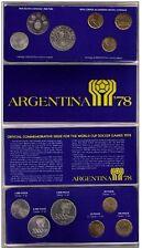 ARGENTINA 1978 - SET DE 6 MONEDAS PLATA (SILVER) DEL MUNDIAL DE FUTBOL ARGENTINA