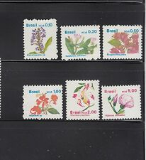 Brazil 1989  Flowers Sc 2176-2181  Complete  Mint Never Hinged