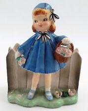 Relpo Holt Howard HH-106 1950s Little Girl Blue Swing Coat Easter Basket Planter