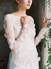 CLAIRE PETTIBONE Lace 3D Floral Romantique Wedding dress Size 10