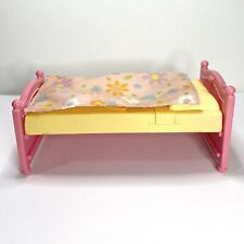 Fisher Price Loving Family Trundle Bed Part (without Trundle) Pink & Yellow