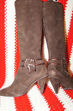 DKNY BOOTS 7  suede leather boots 7 high heeled boot sz 7 dkny heels 7 rare