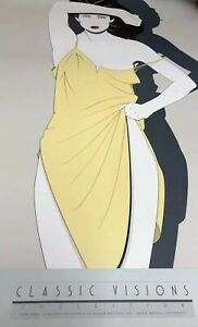 """VERY RARE PATRICK NAGEL NEW YORK Commemorative Lithograph SIP Signed 24x36"""" NEW"""