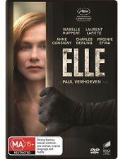 Elle (DVD, 2017) X-RENTAL ISABELLE HUPPERT R4 WINNER 2 GOLDEN GLOBES