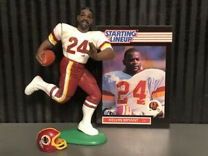 1989 starting lineup Kelvin Bryant Football figure card Washington Redskins Toy