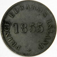 1855 CANADA ½ PENNY PRINCE EDWARD'S ISLAND - SELF GOVERNMENT & FREE TRADE!