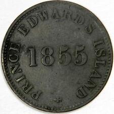 1855 CANADA ½ PENNY PRINCE EDWARD'S ISLAND - SELF GOVERNMENT & FREE TRADE!